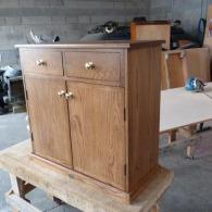 Customer Designed Oak Cabinet
